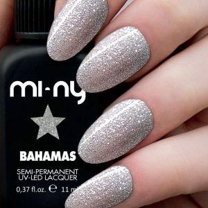 MANUCURE - MI-NY - NMBAHAMAS - semipermanente - argento - glitterato - bahamas - VERNIS - SEMI - PERMANENT - GROSSISTE - ESTHETIQUE - LYSOR - LIANE